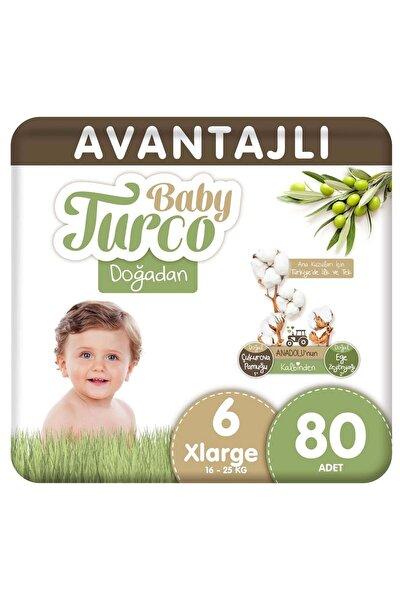 Doğadan Avantajlı Bebek Bezi 6 Numara Xlarge 80 Adet