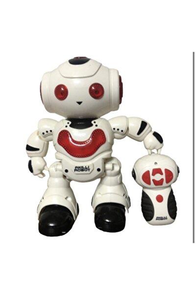Kırmızı Uzaktan Kumandalı Sesli Işıklı Akıllı Robot