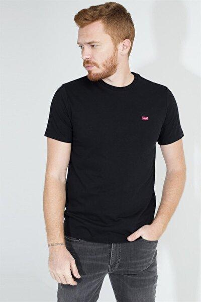 Erkek Siyah Bisiklet Yaka T-shirt 56605-0075-76-77