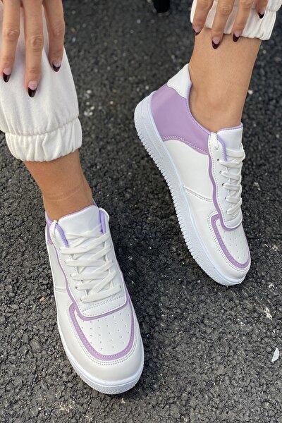Kadın Beyaz Aır Taban Sneaker