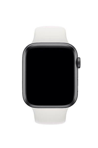 Apple Watch Uyumlu Beyaz Silikon Spor Kordon