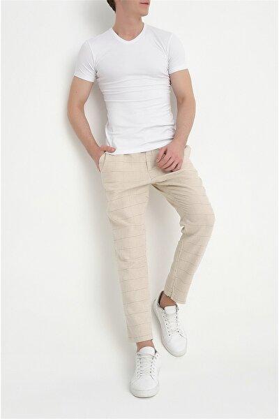 Atp 09 Slim Fit Bej Spor Pantolon