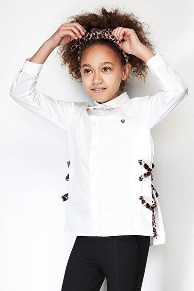 Kız Çocuk Ekru Gömlek