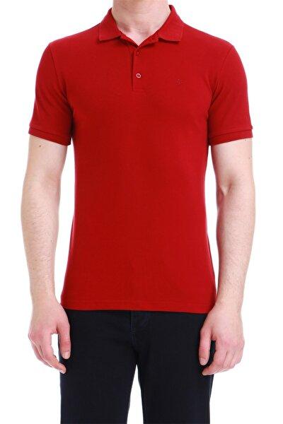 Ts 734 Slim Fit Bordo Spor T-shirt