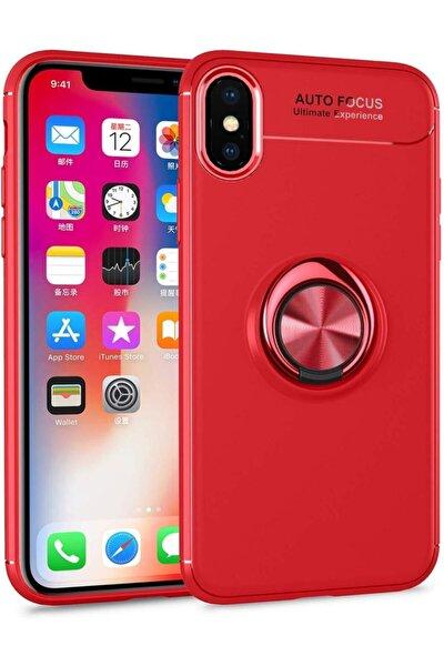 Iphone X/xs Kılıf Yüzüklü Standlı Tam Koruma Silikon