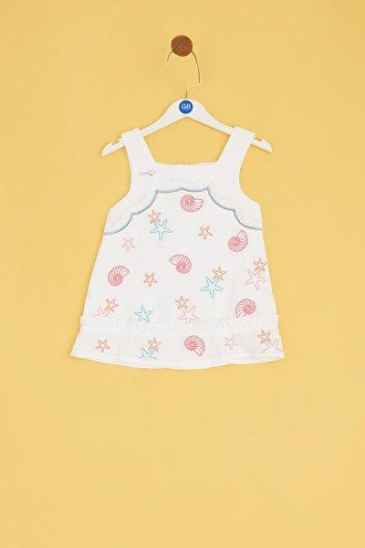 Kız Bebek Beyaz Elbise