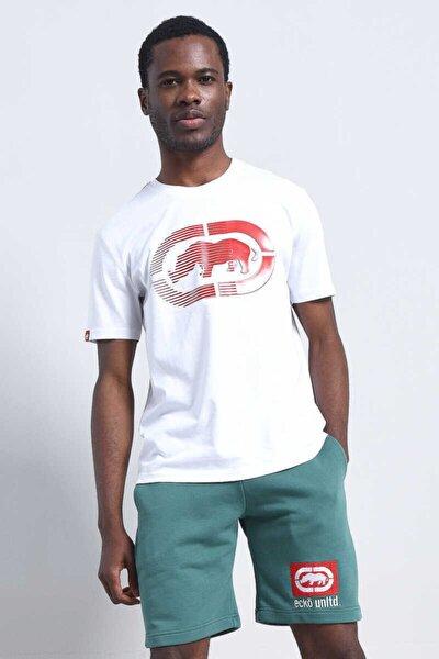 Logo Tee 2 Beyaz Erkek Baskılı Bisiklet Yaka T-shirt