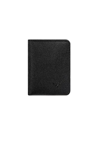 Siyah Epson Deri Erkek Kartlık