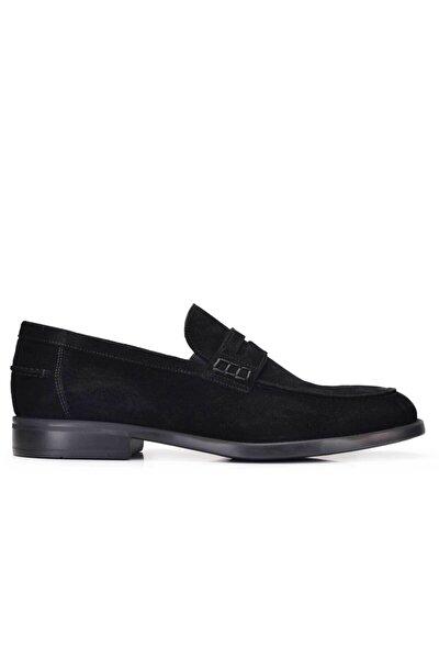 Hakiki Deri Siyah Yazlık Loafer Erkek Ayakkabı -11549-