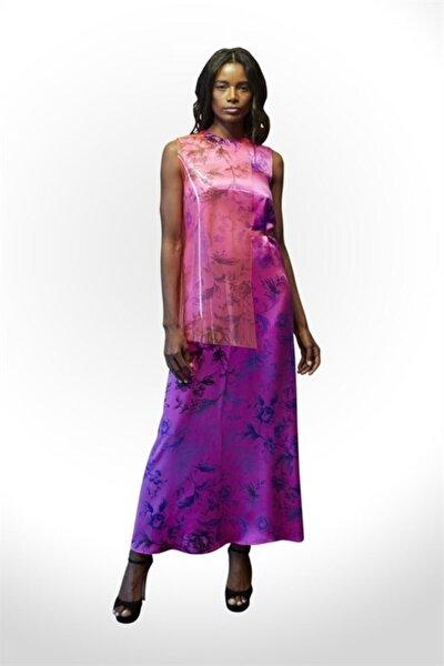 Ipek Fuşya Baskılı Elbise