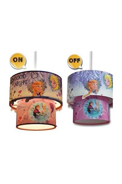 3d Frozen Sihirli Tavan Sarkıtı Lambası - Çocuk Avizesi - Elsa Anna Sarkıt Avize