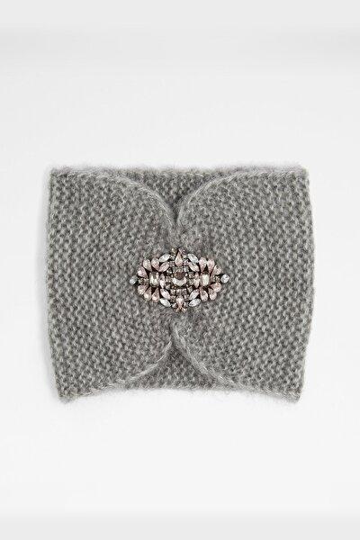 Braedıen - Gri Kadın Şapka & Şal & Eldiven