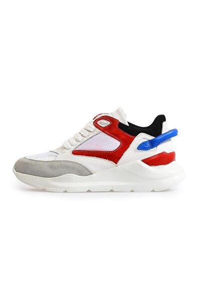 Beyaz Yüksek Tabanlı Spor Ayakkabı