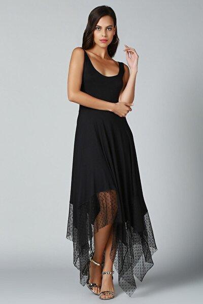 Eteği Asimetrik Elbise