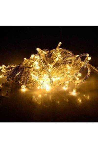 10 Metre Pilli Şeffaf Ve Kalın Kablolu Gün Işığı Sarı Renk Pilli Led Işık