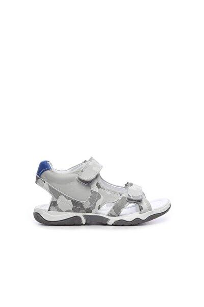 Erkek Çocuk Gri Derı  Ayakkabı  454 7081 Cck 26-36 Y19