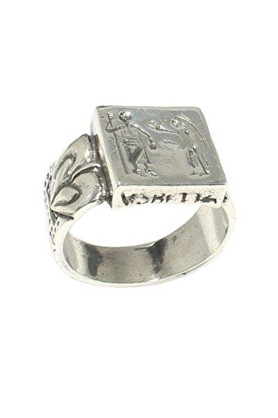 925 Ayar Gümüş Mısır Hiyeroglif Yüzük