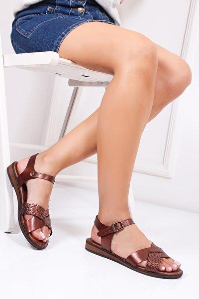 Hakiki Deri Twinkle-3 Kadın Deri Sandalet Dp-0079