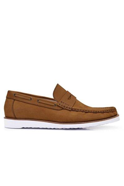 Hakiki Deri Taba Yazlık Loafer Erkek Ayakkabı -11617-