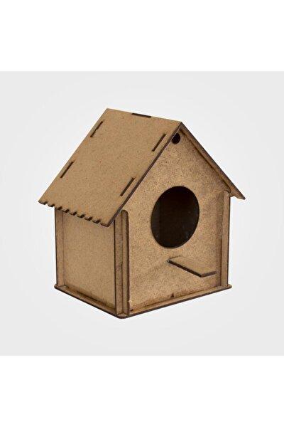 3d Boyanabilir Ahşap Kuş Evi ( 3 Adet)12x11,5x8 Cm