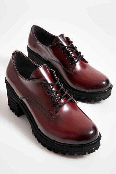 Bordo Açma Kadın Oxford Ayakkabı M0688010674