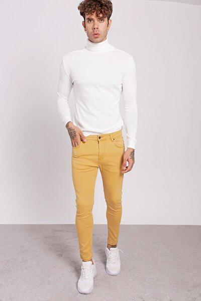 Erkek Hardal Kot Pantolon