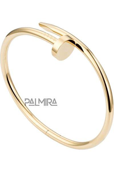 Gold Renk Çelik Cartier Çivi Bileklik