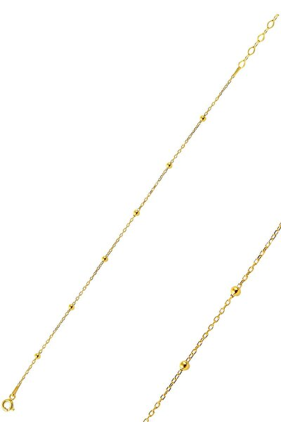 Gümüş Altın Rengi Top Top Halhal