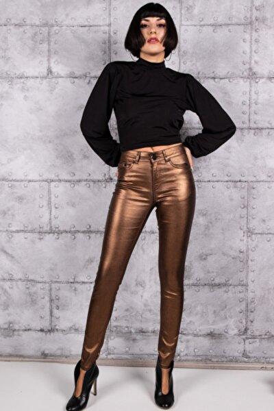 Bronze Kaplamalı Pantolon