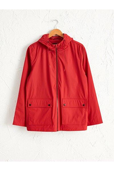 Kadın Kırmızı  Yağmurluk