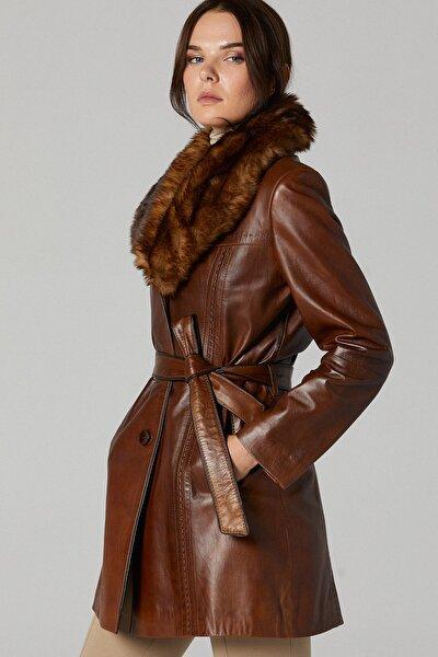 New Alexandra Kadın Deri Ceket