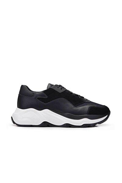 Hakiki Deri Siyah Sneaker Erkek Ayakkabı -11722-