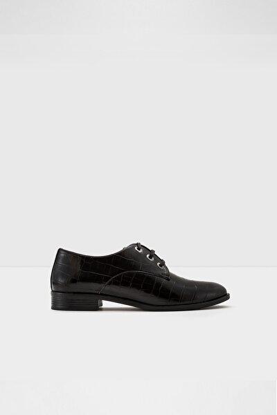 Crocox-tr - Siyah Kadın Oxford Ayakkabı