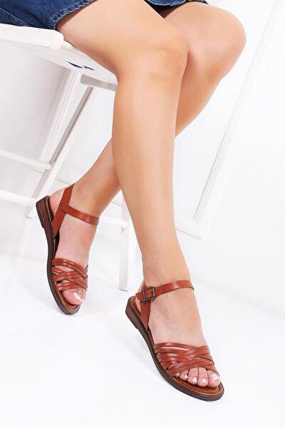 Hakiki Deri Taba Kadın Deri Sandalet Dp-0013
