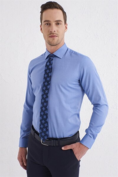 Gk 583 Slim Fit Mavi Klasik Gömlek