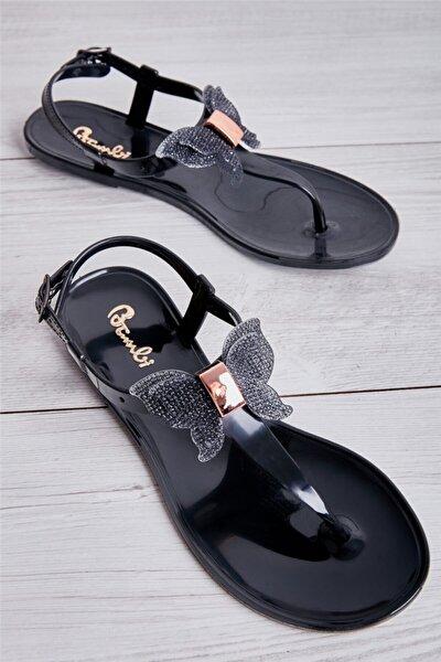Siyah Füme Kadın Sandalet L0500001399