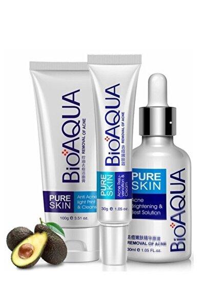 Pure Skin Akne Sivilce Ve Iz Karşıtı Cilt Bakım Seti 3 Parça