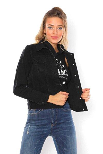 Kemer Üstü Siyah Jeans Ceket