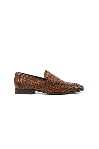 Taba Hakiki Deri Örgülü Klasik Ayakkabı