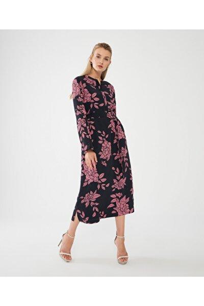 Decosa Parıs Yırtmaç Kollu Elbise