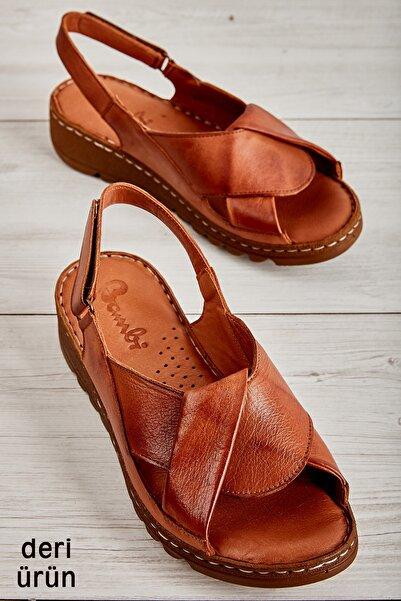 Hakiki Deri Taba Kadın Sandalet L0529001803