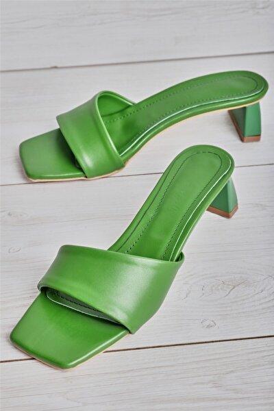 Yeşil Kadın Terlik L0596044409