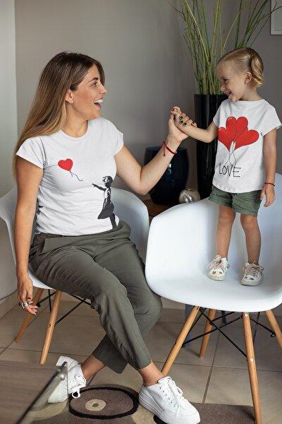 Anne & Kız Baskılı Kombin Tişörtler