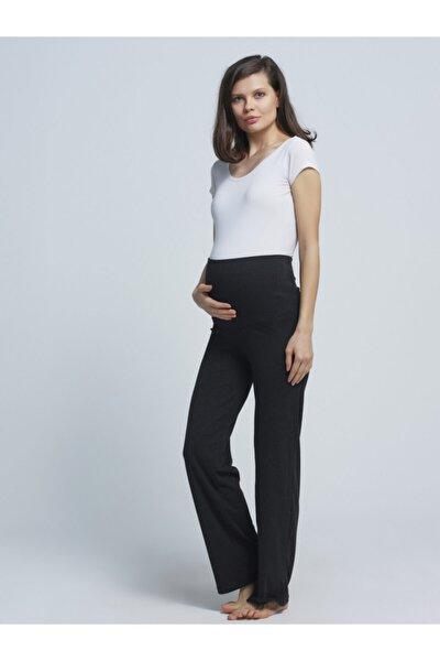 Hamile Likralı Pamuklu Eşofman Altı Ev Pantalonu