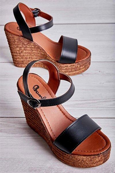 Sıyah Kadın Açık Ayakkabı