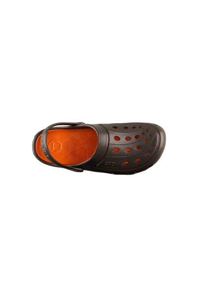 6351-q011 Jumper Terlik - Sandalet Chocolate/dk. Orange Camel-41