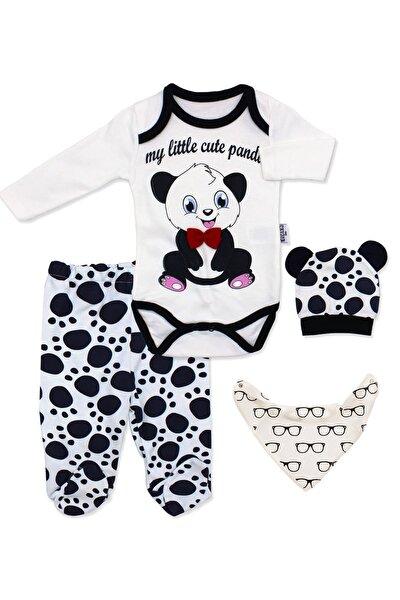 Panda Figürlü Bebek 4 Lü Zıbın Takımı
