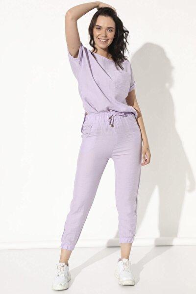 Pantolonlu Takım - Lila