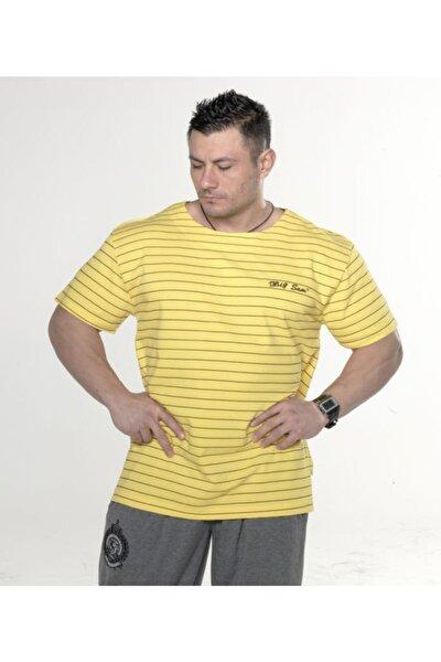 Sarı Büyük Beden Tişört 2671