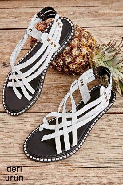 Beyaz/beyaz Yılan Kadın Sandalet L0602508003